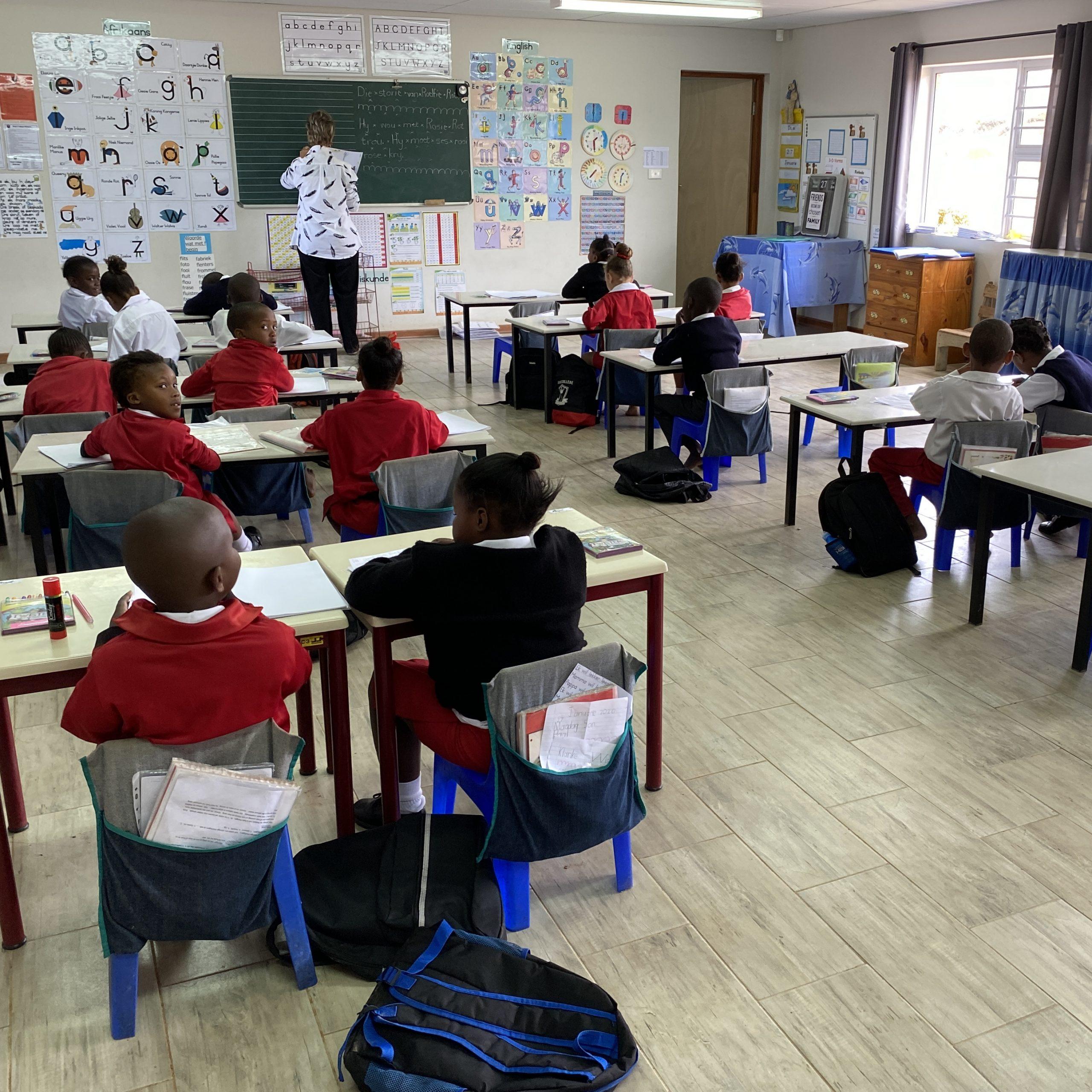 concreet geven, schoolmaterialen